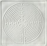 Chartres Labyrinth [White] by keith hunter, Artist Print