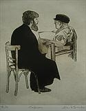 Confession by keith hunter, Artist Print, Drypoint