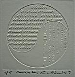 Conversation by keith hunter, Artist Book, Blind embossed