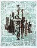 Cycladic figures by keith hunter, Artist Print, 2 plate etching with aquatint
