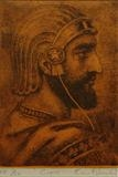 Cyrus by keith hunter, Artist Print, Etching with chine colle