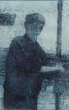 Fishmonger by keith hunter, Artist Print