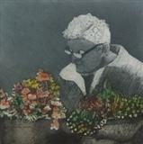 Flower Seller by keith hunter, Artist Print