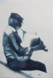 Gaida player, Mykonos, Greece 1 by keith hunter, Artist Print