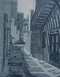Lane, Mykonos by keith hunter, Artist Print