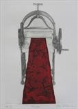 Mangle by keith hunter, Artist Print, 2 plate etching and aquatint