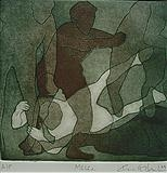 Melee by keith hunter, Artist Print, Aquatint