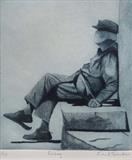Resting by keith hunter, Artist Print, Etching and aquatint