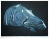 Selene's Horse by keith hunter, Artist Print, 2 plate aquatint