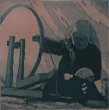 Spinning by keith hunter, Artist Print, Etchng and aquatint