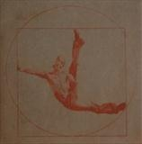 Vitruvian Man revisited - Breakdancer by keith hunter, Artist Print