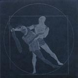 Vitruvian Man revisited - Pas de Deux by keith hunter, Artist Print