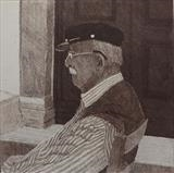 Waiting for God by keith hunter, Artist Print, Etching, drypoint and aquatint