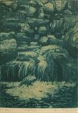 Waterfall by keith hunter, Artist Print, Etching and aquatint